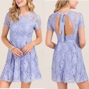 Francesca's Stacia Tie Back Lace Dress